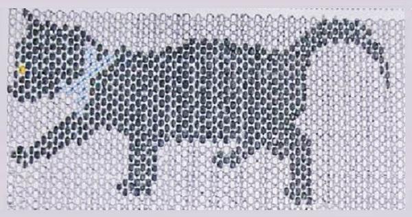 Кошка из бисера Плетение бисером.