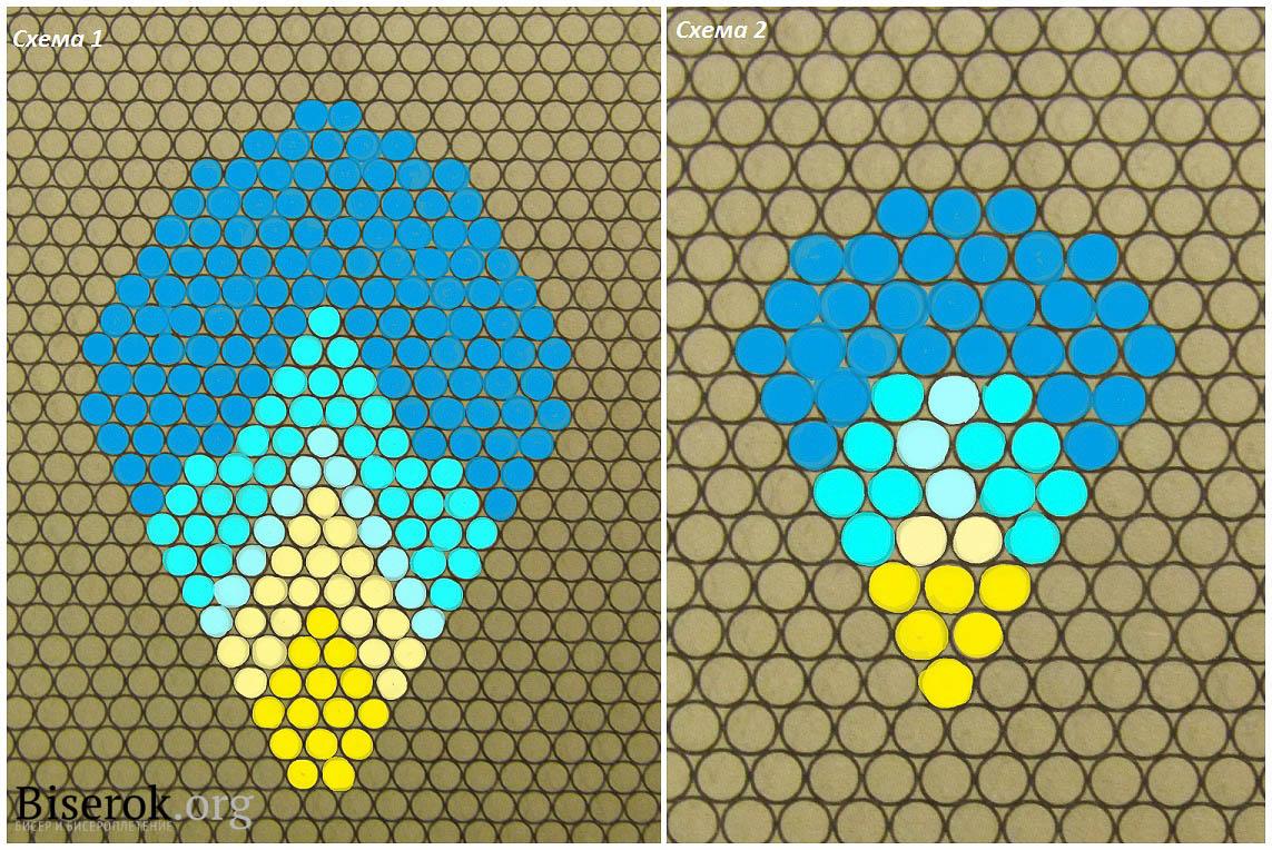 схема плетения лепестка примулы