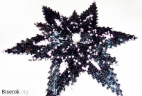 Цветок в технике плотного косого плетения