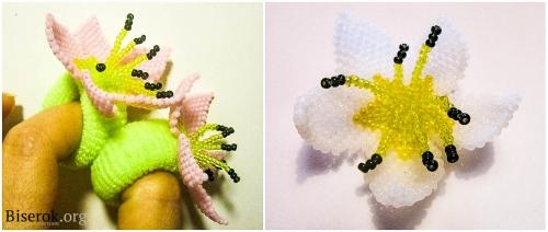 цветки из бисера
