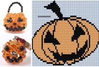 Подборка схем тыквы к Хэллоуину