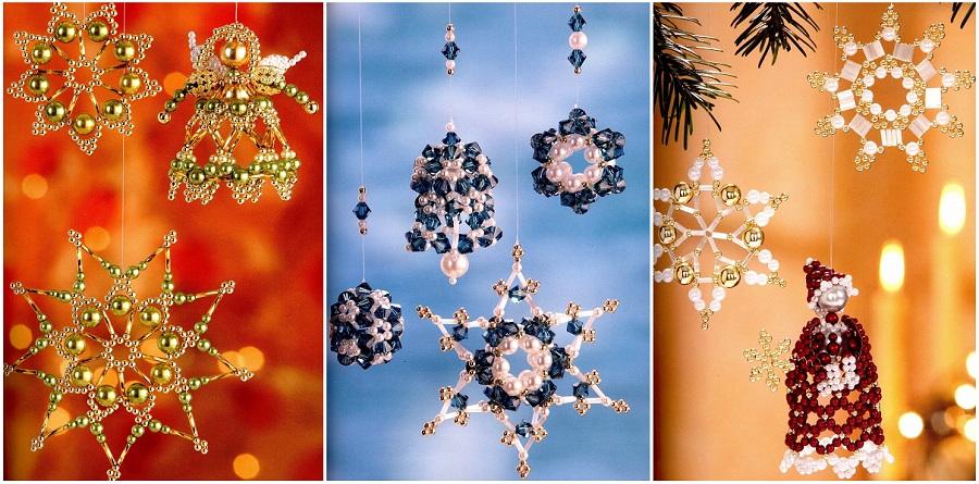 Елочные игрушки из бисера Новогодние изделия – Бисерок