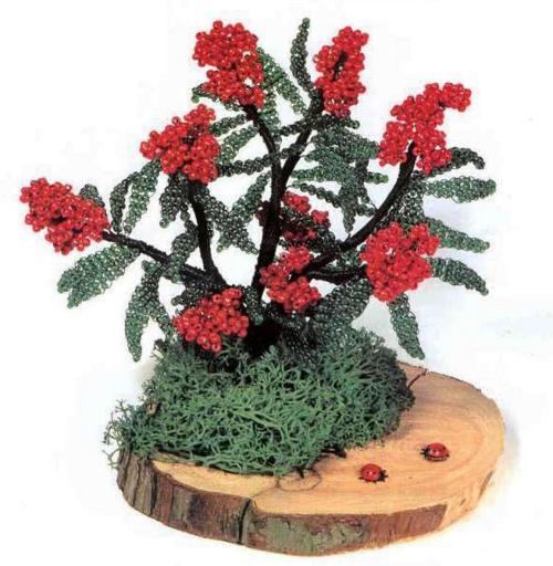Одни из самых интересных изделий из бисера - это бонсай.  Деревья и кустарники в миниатюре, сделанные из различных...