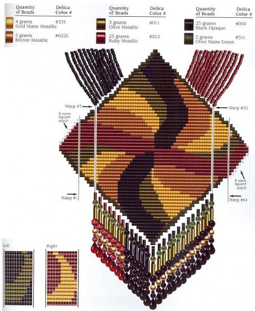Схема узора из бисера