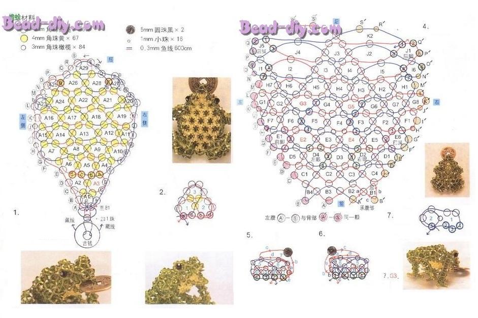 Схема лягушки фенечка
