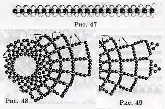 Схема плетения и присоединения