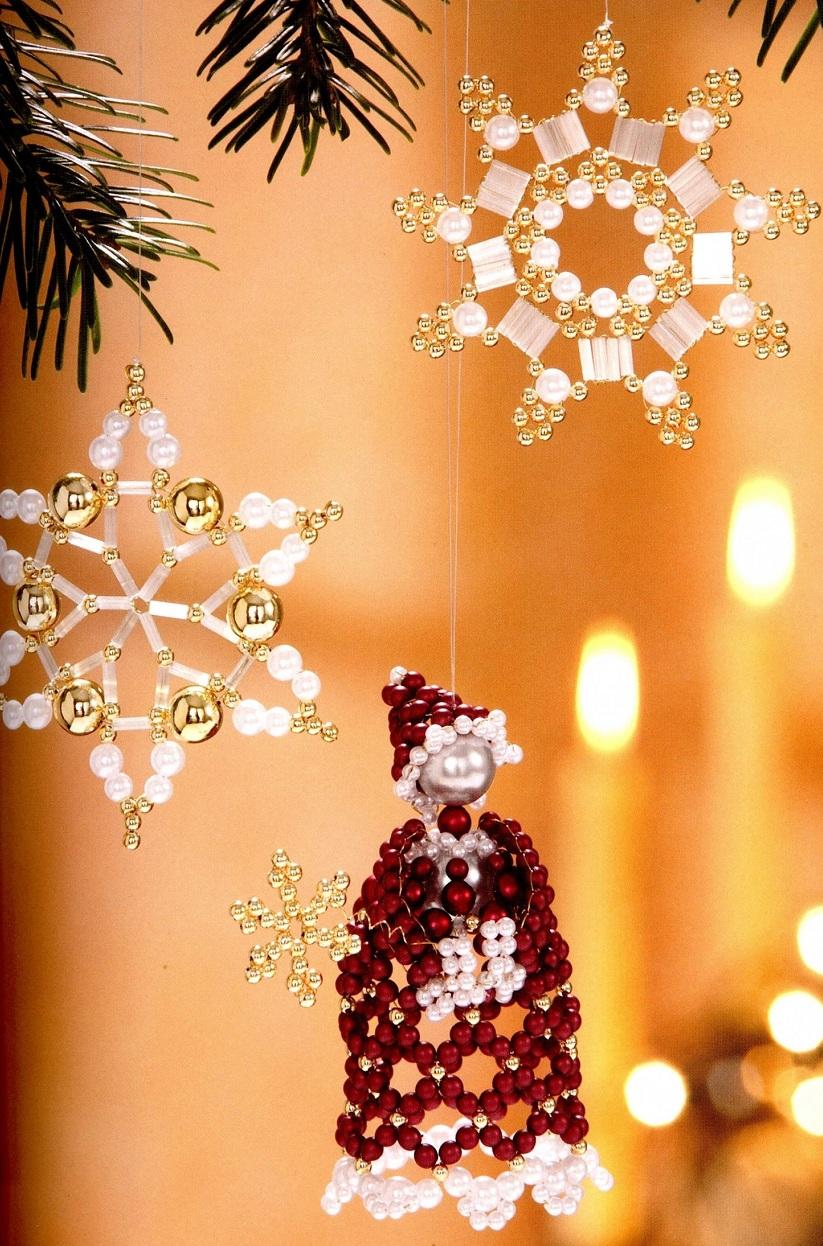 шарики на елку из бисера схема