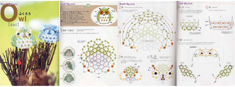 Схема для плетения совы