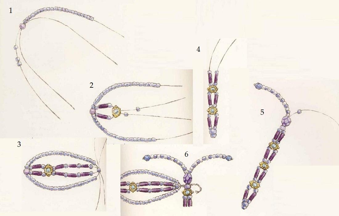 Схема плетения стрекозы из
