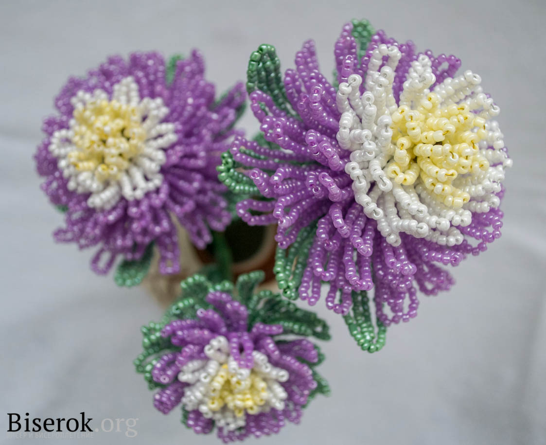 Все хризантем из бисера 97