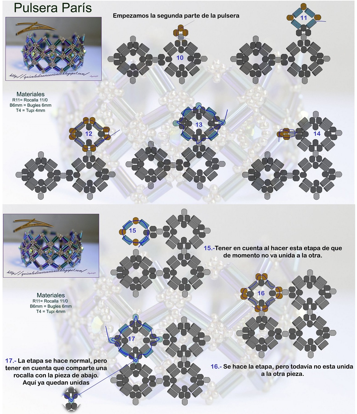Пошаговая схема плетения браслета