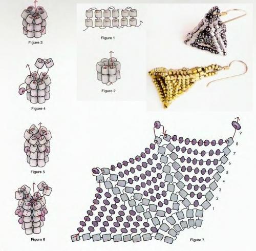 плетение жгута и серег