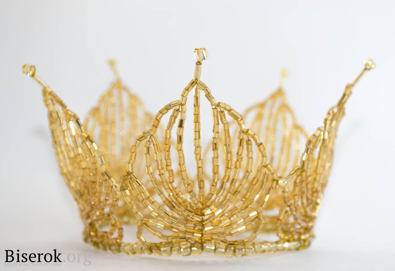 Корона из бисера.