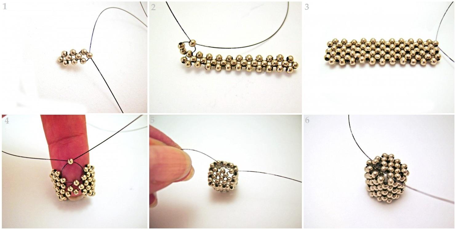 схема кубика из бисера кирпичным плетением