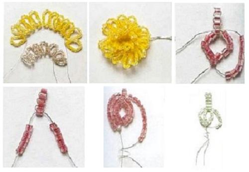 плетение лилии