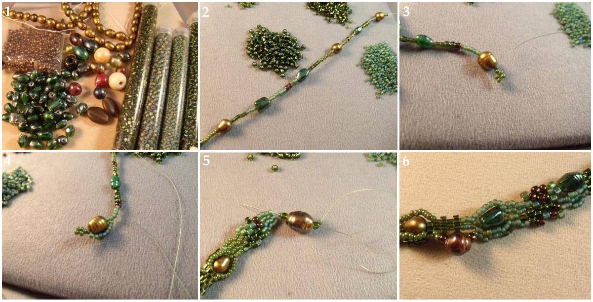мастер класс бисероплетение деревьев сирень пошагово - Вышивка бисером.