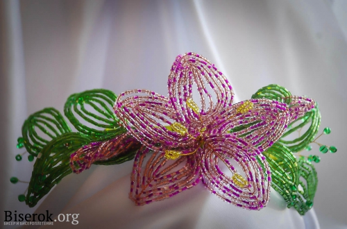 венок из бисера. обруч с цветами.