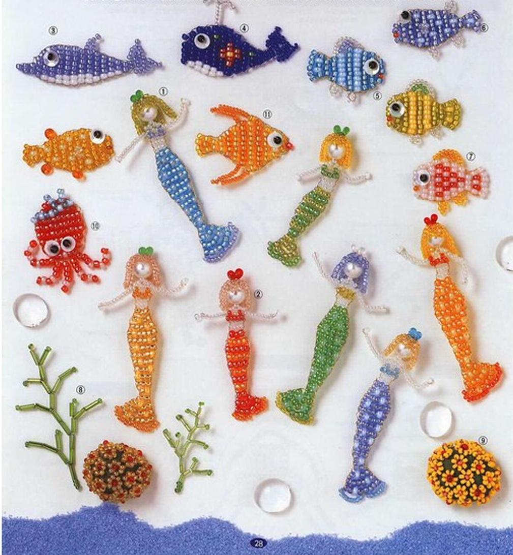 Если вам нравится плести из бисера маленькие фигурки различных животных, то эти схемы обязательно придутся вам по...
