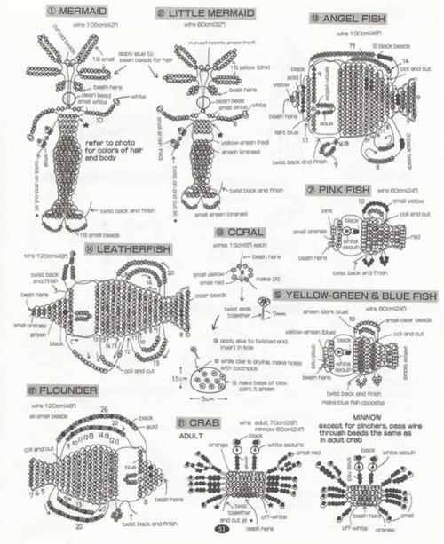 схема рыбок из бисера
