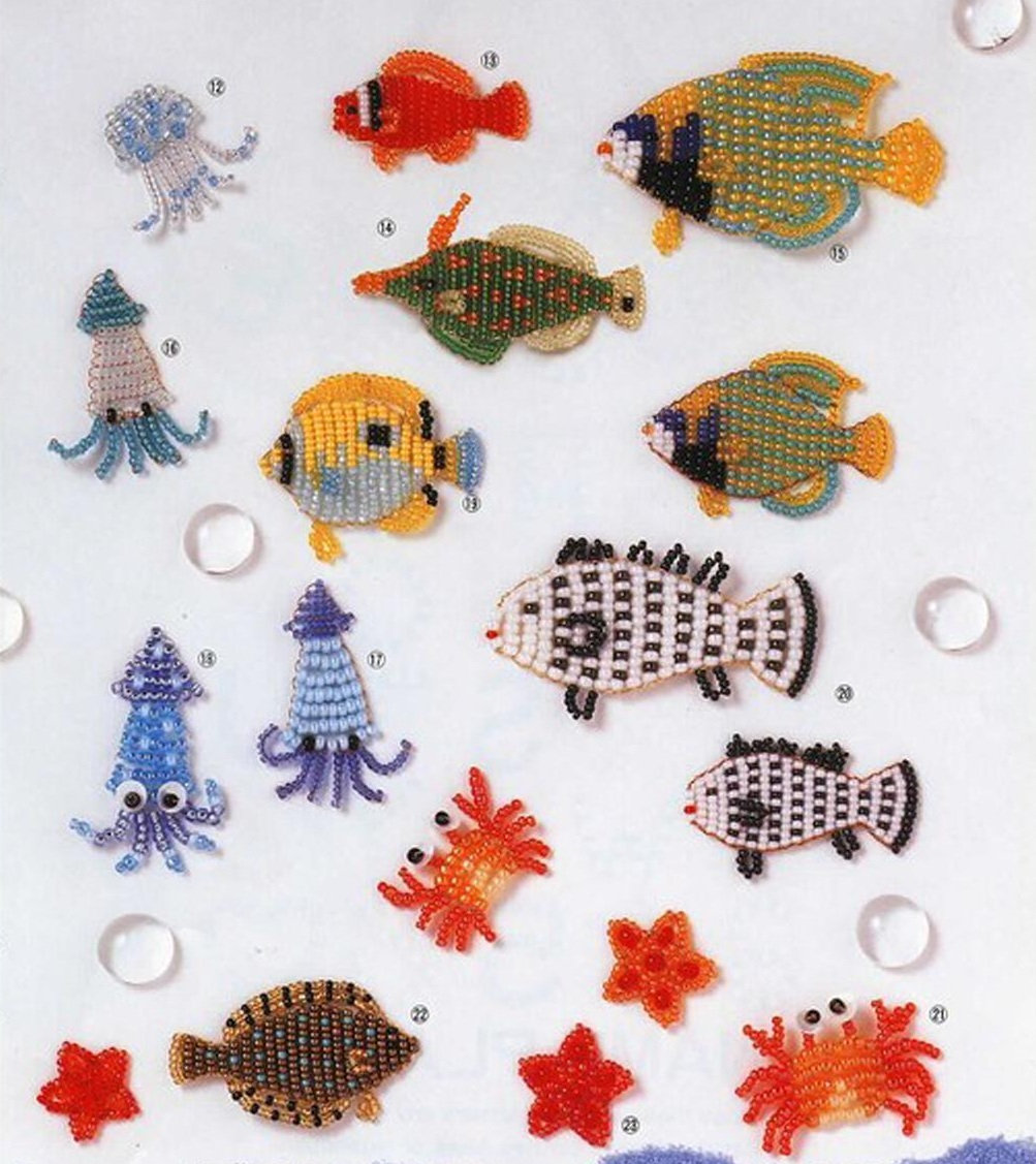 плоские фигурки из бисера схема