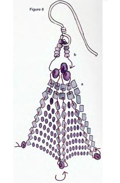 схема плетения серег