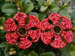 Сережки цветы
