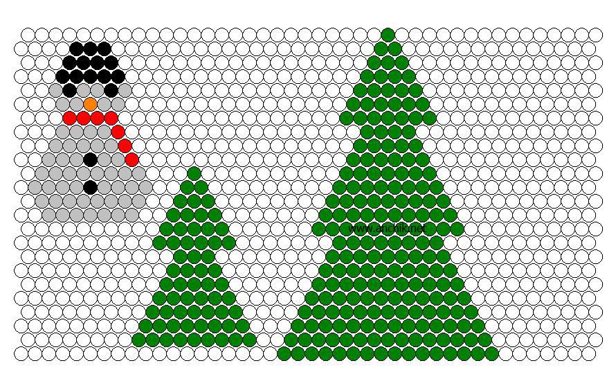 Елки новогодние из бисера схема плетения