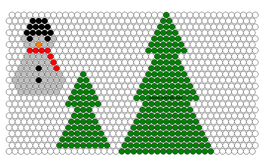 Схема плетения елки и