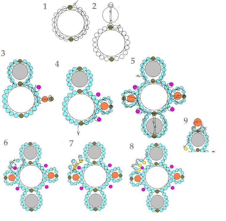 плетение из бисера схемы браслета для начинающих - Схемы.