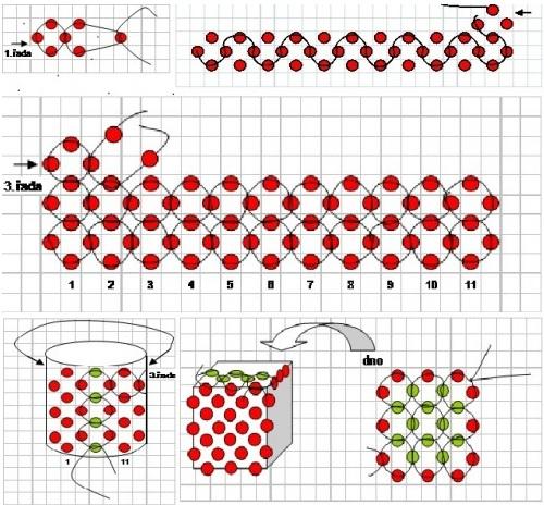 плетение кубика схема