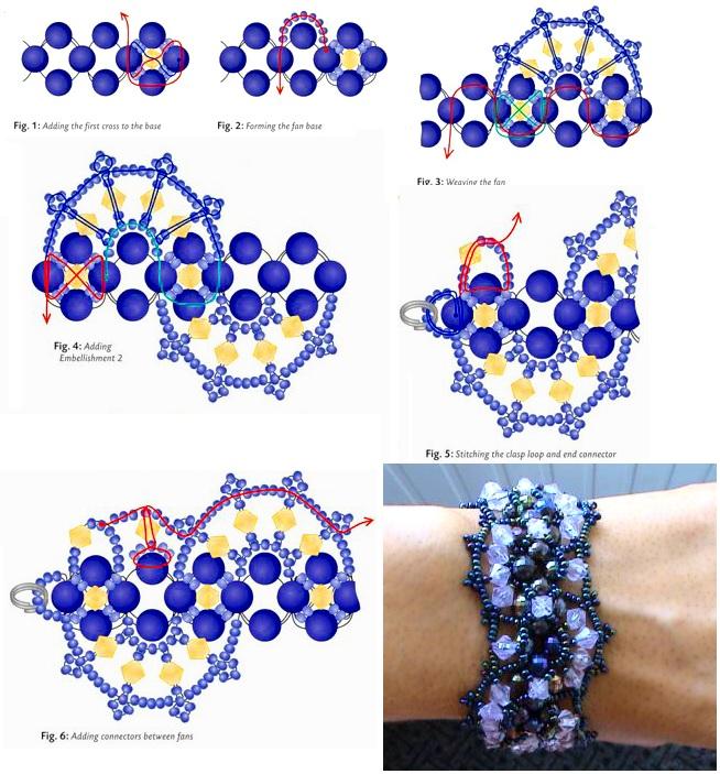Схема браслет из бисера своими руками