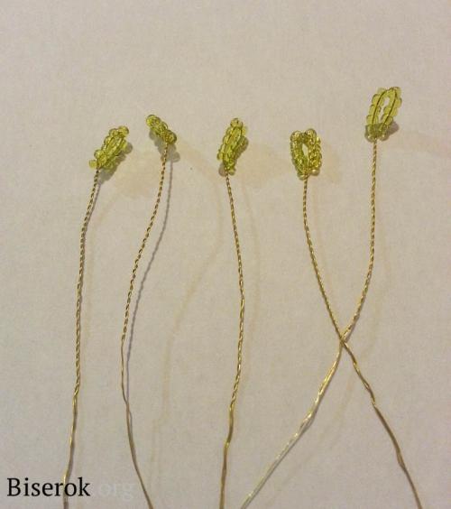 Как сделать серединку из бисера для цветка