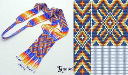 Схема плетения герданы из бисера в картинках - Делаем фенечки своими руками.