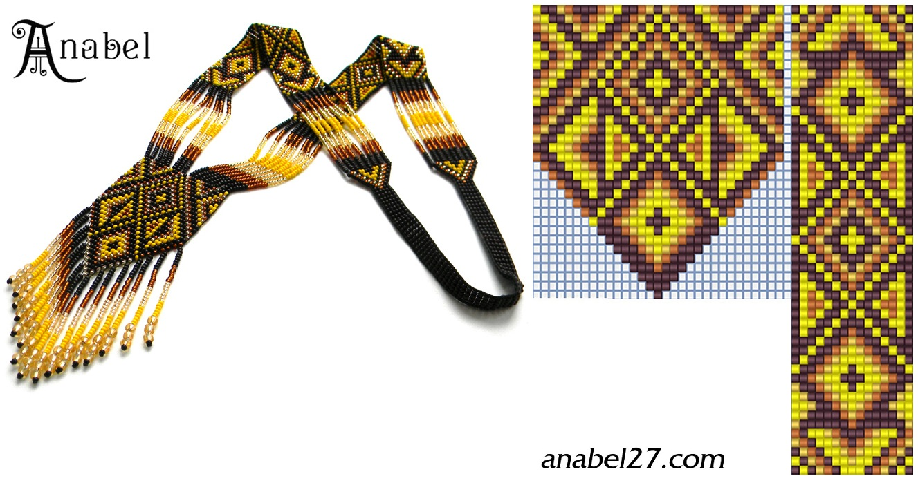 Схемы из бисера анабель