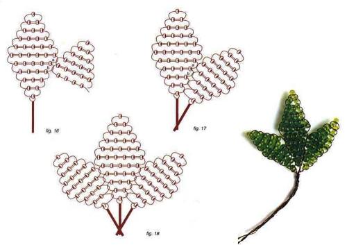 плетение листика
