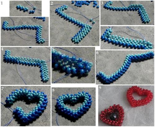 плетение сердечек
