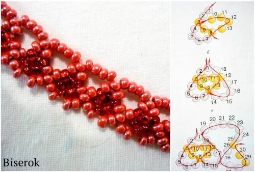 схема плетения цепочки