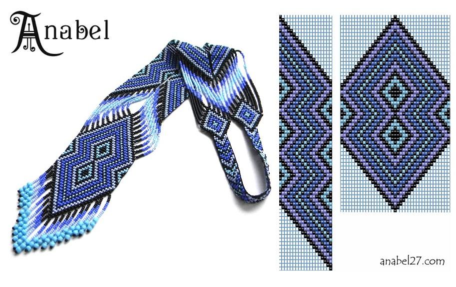 Гердан от Anabel.  Еще несколько красивых и ярких украшений из бисера.  Первая часть схем.  Автор украшений: Anabel.