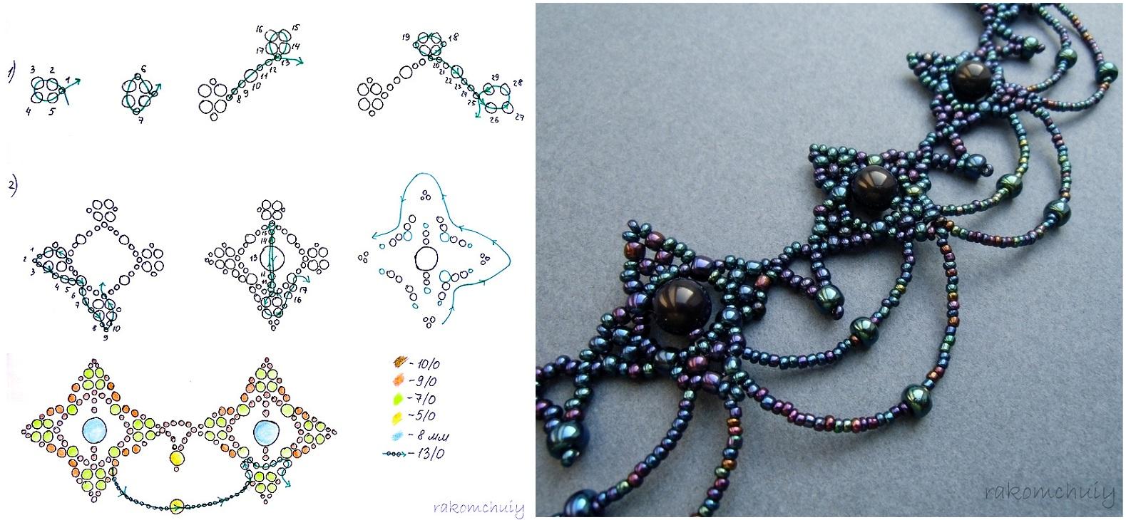Схемы плетения цветов из бисера. Как сделать своими руками 33