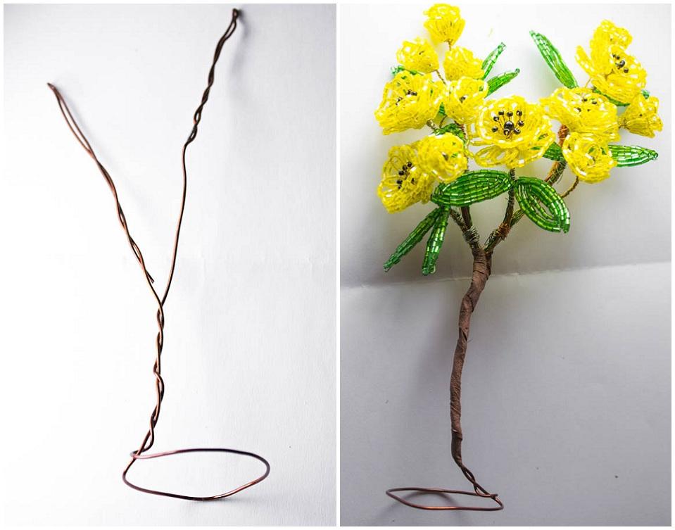 Поделки из бисера деревья и цветы фото 66