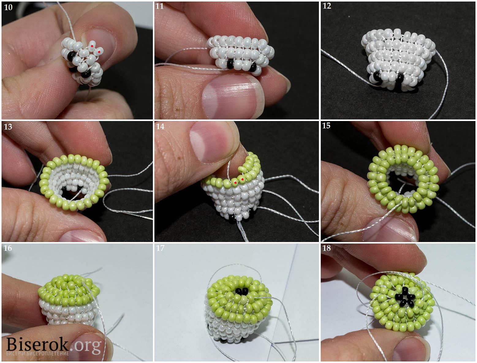 Плетение из бисера яблоко схема