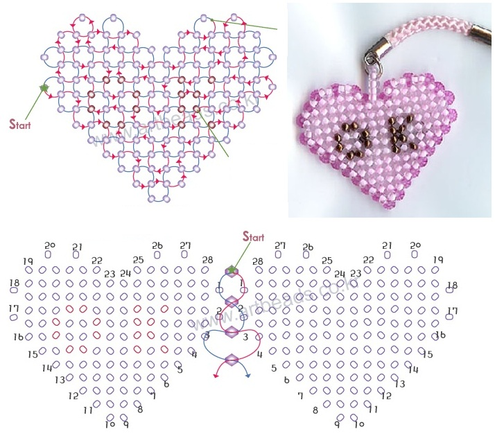 Брелок «Розовое сердце»