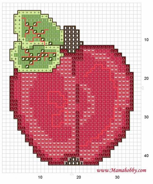 Яблочный сад из бисера