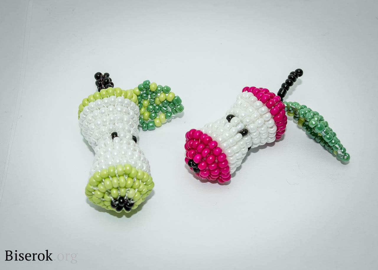 плетение и бисера схемы фруктов