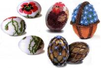 Плетение яиц к Пасхе