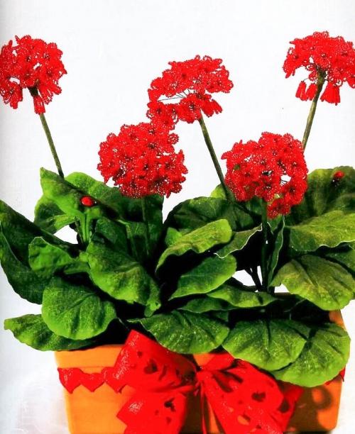 Это комнатный цветок со специфическим запахом.  Вы можете самостоятельно выполнить герань из бисера и другого...