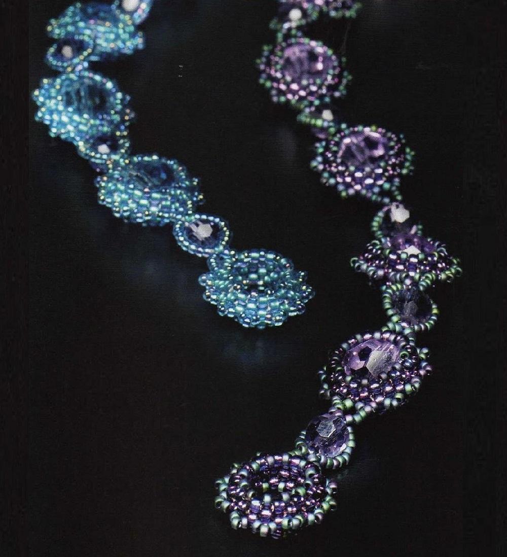 Ожерелья из риволи своими руками