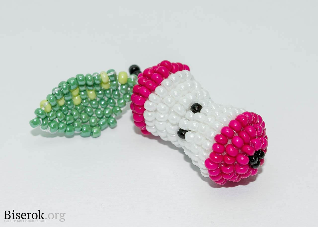 Яблоко из бисера схемы плетения для начинающих