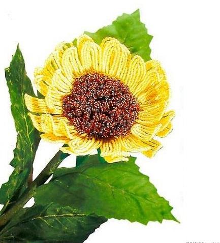 Плетение подсолнуха из бисера.  Как же радует глаз этот солнечный подсолнух.  Это растение прекрасно вписывается в...