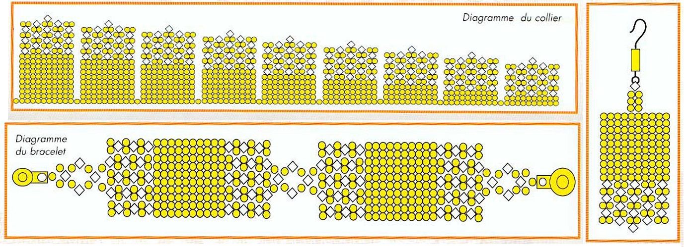 Работа и схемы браслетов из бисера